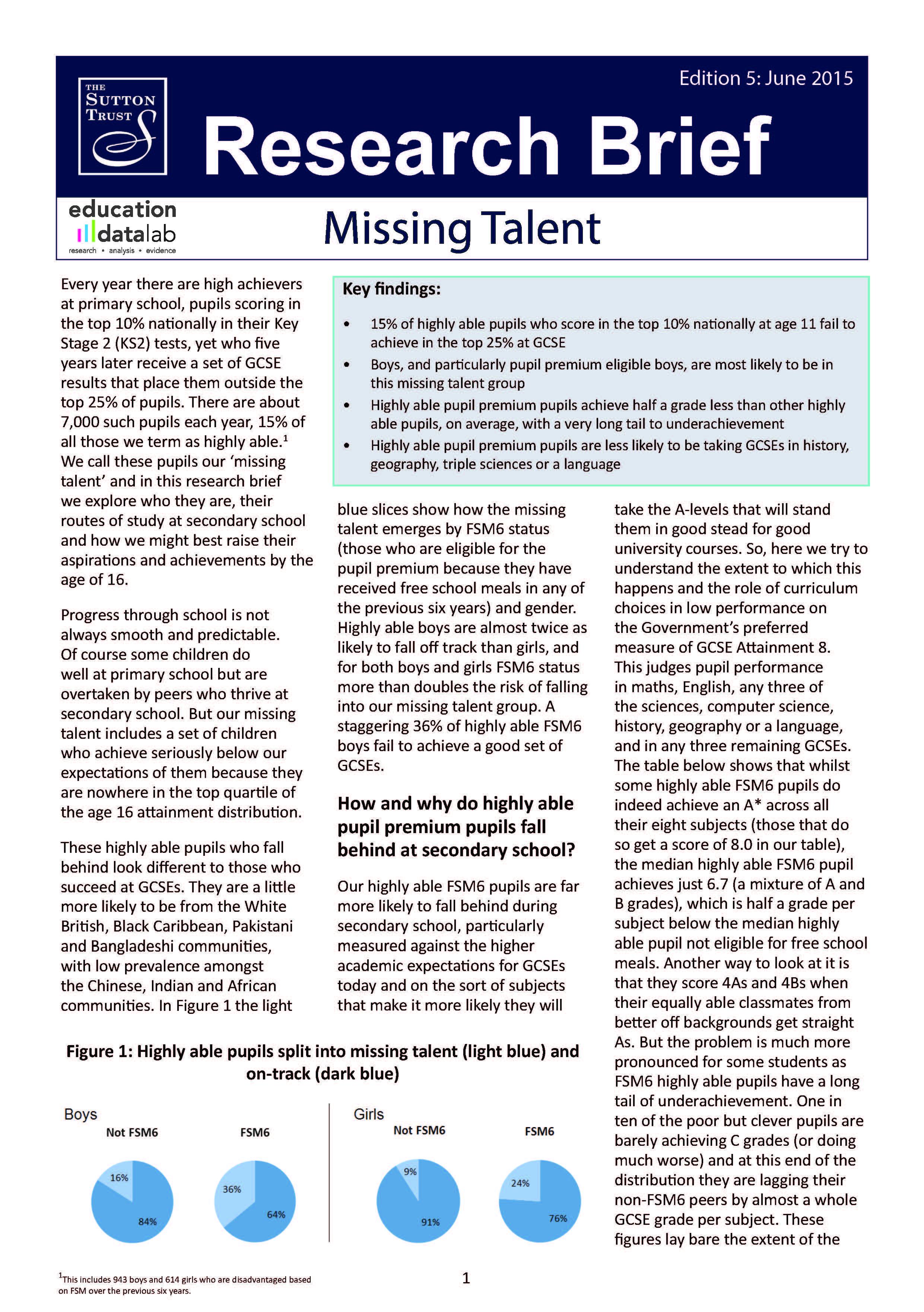 Missing Talent