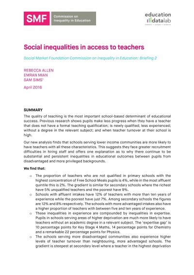 Social-Market-Foundation-Social-inequalities-in-access-to-teachers