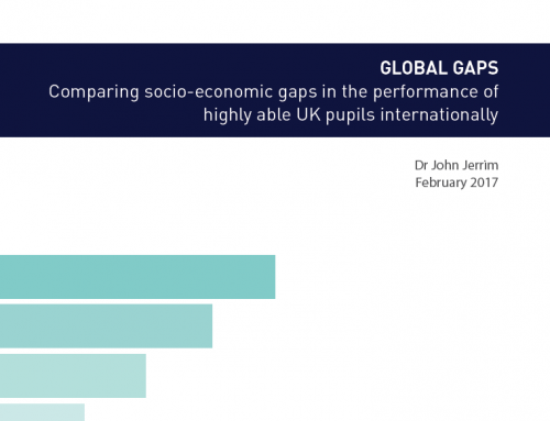 Global Gaps: Comparing socio-economic gaps in the performance of highly able UK pupils internationally