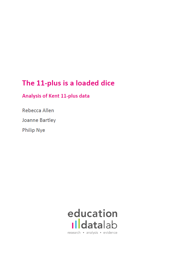 The 11-plus is a loaded dice – research report