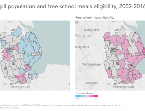 Explore England's changing free school meals rates