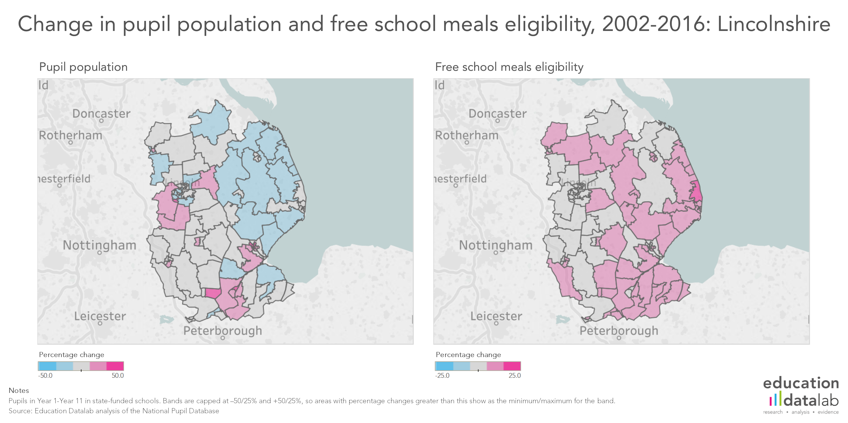 Map Of England For Ks1.Explore England S Changing Free School Meals Rates Fft Education